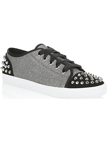Liberal Low Top Sneaker Grey - predominant colour: light grey; occasions: casual; material: fabric; heel height: flat; embellishment: studs; toe: round toe; style: trainers; trends: sporty redux; finish: plain; pattern: colourblock