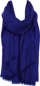Theresa Wrap - predominant colour: purple; occasions: evening, occasion, holiday; type of pattern: standard; style: wrap; size: large; material: fabric; embellishment: beading; pattern: plain