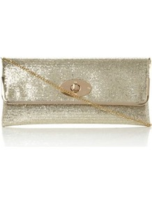 Gold Glitter Bostons Glitter Evening Clutch Bag - predominant colour: gold; occasions: evening, occasion; type of pattern: standard; style: clutch; length: hand carry; size: standard; material: fabric; embellishment: glitter; pattern: plain; trends: metallics; finish: plain