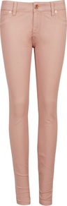 Ted Baker Esstie Skinny Jeans - style: skinny leg; length: standard; pattern: plain; pocket detail: traditional 5 pocket; waist: mid/regular rise; predominant colour: blush; occasions: casual; fibres: cotton - stretch; texture group: denim; pattern type: fabric
