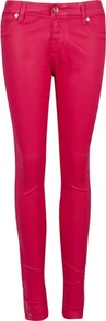Ted Baker Esstie Skinny Jeans - style: skinny leg; length: standard; pattern: plain; pocket detail: traditional 5 pocket; waist: mid/regular rise; predominant colour: hot pink; occasions: casual; fibres: cotton - stretch; texture group: denim; trends: fluorescent; pattern type: fabric