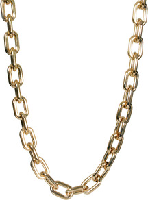 Limited Edition Long Open Link Necklace - predominant colour: gold; occasions: casual, evening, holiday; style: standard; length: long; size: large/oversized; material: chain/metal; finish: metallic