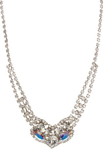 Limited Edition Rhinestone Collar Necklace - predominant colour: silver; occasions: casual, evening, occasion; style: choker/collar; length: mid; size: small; material: chain/metal; finish: plain; embellishment: crystals
