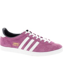 Gazelle Og Pink Trainers - secondary colour: white; occasions: casual, holiday; material: suede; heel height: flat; toe: round toe; style: trainers; trends: sporty redux; finish: plain; pattern: plain; predominant colour: dusky pink