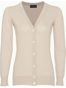 Belsize In Ice Cream - neckline: v-neck; hip detail: fitted at hip; predominant colour: stone; occasions: casual, work; length: standard; style: standard; fibres: cotton - 100%; fit: slim fit; sleeve length: long sleeve; sleeve style: standard; texture group: knits/crochet; pattern type: knitted - fine stitch; pattern size: standard