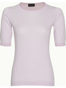 Dione In Candy - pattern: plain; style: sweat top; predominant colour: blush; occasions: casual; length: standard; fibres: cotton - 100%; fit: body skimming; neckline: crew; sleeve length: short sleeve; sleeve style: standard; pattern type: fabric; pattern size: standard; texture group: jersey - stretchy/drapey