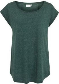 Tall Dark Green Basic Slub T Shirt - neckline: round neck; pattern: plain; length: below the bottom; style: t-shirt; predominant colour: dark green; occasions: casual; fibres: linen - mix; fit: loose; sleeve length: short sleeve; sleeve style: standard; pattern type: fabric; pattern size: small & light; texture group: jersey - stretchy/drapey