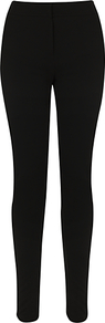 Ponte Skinny Trousers, Black - length: standard; pattern: plain; waist detail: fitted waist; waist: mid/regular rise; predominant colour: black; occasions: casual, evening, work; fibres: viscose/rayon - stretch; hip detail: fitted at hip (bottoms); fit: skinny/tight leg; pattern type: fabric; texture group: jersey - stretchy/drapey; style: standard