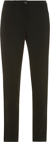 Jean Style Trousers, Black - length: standard; pattern: plain; pocket detail: traditional 5 pocket; waist: mid/regular rise; predominant colour: black; occasions: casual; fibres: cotton - stretch; fit: skinny/tight leg; pattern type: fabric; pattern size: standard; texture group: woven light midweight; style: standard