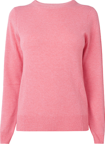 Cashmere Jumper - pattern: plain; style: standard; predominant colour: coral; occasions: casual, work; length: standard; fit: standard fit; neckline: crew; fibres: cashmere - 100%; sleeve length: long sleeve; sleeve style: standard; texture group: knits/crochet; pattern type: knitted - fine stitch; pattern size: standard