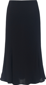 Nana Skirt, Black - length: below the knee; pattern: plain; style: bias cut; waist: high rise; fit: bias; predominant colour: black; occasions: evening, work, occasion; fibres: viscose/rayon - 100%; texture group: crepes; pattern type: fabric
