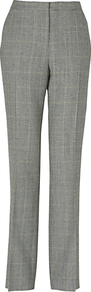 Pow Check Trousers, Charcoal - length: standard; pattern: checked/gingham; waist: mid/regular rise; predominant colour: mid grey; occasions: casual, evening, work; fibres: wool - 100%; fit: straight leg; pattern type: fabric; pattern size: small & light; texture group: woven light midweight; style: standard
