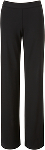 Anette Trousers, Black - length: standard; pattern: plain; waist: mid/regular rise; predominant colour: black; occasions: evening, work; fibres: viscose/rayon - 100%; texture group: cotton feel fabrics; fit: straight leg; pattern type: fabric; style: standard