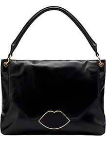 Nicola Medium Shoulder Handbag, Black - predominant colour: black; occasions: casual, evening, work; type of pattern: standard; style: shoulder; length: shoulder (tucks under arm); size: standard; material: leather; pattern: plain; finish: plain
