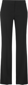 Fine Wool Classic Trousers, Black - length: standard; pattern: plain; waist detail: fitted waist; pocket detail: small back pockets; waist: mid/regular rise; predominant colour: black; occasions: evening, work; fibres: wool - mix; hip detail: fitted at hip (bottoms); fit: bootcut; pattern type: fabric; pattern size: standard; texture group: other - light to midweight; style: standard