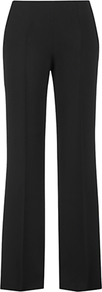 Madison Crepe Trousers, Black - length: standard; pattern: plain; waist: mid/regular rise; predominant colour: black; occasions: evening, work; fibres: polyester/polyamide - mix; fit: bootcut; pattern type: fabric; texture group: other - light to midweight; style: standard