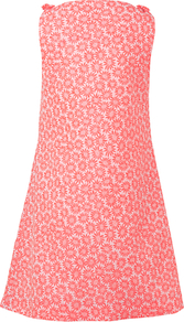 Bow Shoulder Shift Dress, Pink - style: shift; length: mid thigh; neckline: round neck; sleeve style: sleeveless; predominant colour: pink; occasions: evening; fit: soft a-line; fibres: polyester/polyamide - mix; sleeve length: sleeveless; texture group: ornate wovens; pattern type: fabric; pattern: florals