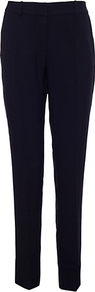 Oslo Trouser, Blue - pattern: plain; waist: mid/regular rise; predominant colour: black; occasions: evening, work; length: ankle length; fibres: polyester/polyamide - 100%; fit: slim leg; pattern type: fabric; texture group: other - light to midweight; style: standard
