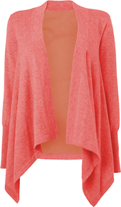 Silk Back Cardigan, Pale Pink - pattern: plain; neckline: waterfall neck; back detail: contrast pattern/fabric at back; style: open front; predominant colour: pink; occasions: casual, holiday; length: standard; fibres: wool - 100%; fit: standard fit; sleeve length: long sleeve; sleeve style: standard; texture group: knits/crochet; pattern type: knitted - fine stitch