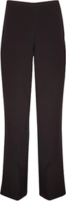 Smart Textured Trousers, Black - length: standard; pattern: plain; waist: mid/regular rise; predominant colour: black; occasions: evening, work; fibres: polyester/polyamide - 100%; fit: straight leg; pattern type: fabric; texture group: other - light to midweight; style: standard