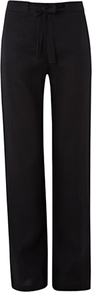 Anna Trousers, Black - length: standard; pattern: plain; waist: mid/regular rise; predominant colour: black; occasions: work; fibres: linen - 100%; texture group: linen; fit: straight leg; pattern type: fabric; style: standard