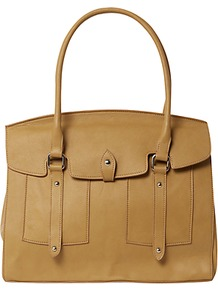 Alice Tote Bag, Natural - predominant colour: tan; occasions: casual, work; type of pattern: standard; style: tote; length: handle; size: standard; material: leather; pattern: plain; finish: plain