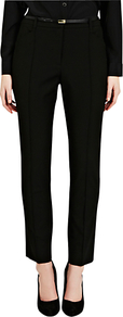Celeste Slim Line Trousers, Black - pattern: plain; waist: mid/regular rise; predominant colour: black; occasions: evening, work; length: ankle length; fibres: polyester/polyamide - stretch; fit: slim leg; pattern type: fabric; texture group: woven light midweight; style: standard