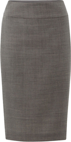 Millbank Skirt, Dove Ivory - pattern: plain; style: pencil; fit: tailored/fitted; waist: mid/regular rise; predominant colour: mid grey; occasions: work; length: just above the knee; fibres: wool - 100%; waist detail: narrow waistband; pattern type: fabric; texture group: other - light to midweight