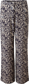 Abida Palazzo Trousers, Dark Flint - length: standard; style: palazzo; waist detail: elasticated waist; waist: mid/regular rise; predominant colour: charcoal; occasions: casual, evening, occasion; fibres: silk - 100%; texture group: silky - light; fit: wide leg; pattern type: fabric; pattern size: big & busy; pattern: florals