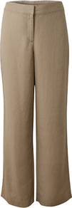 Elastic Detail Linen Trouser, Jute - length: standard; pattern: plain; waist detail: elasticated waist; waist: mid/regular rise; predominant colour: stone; occasions: casual; fibres: linen - 100%; texture group: linen; fit: wide leg; pattern type: fabric; style: standard