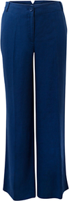 Wide Leg Linen Trousers, Cobalt - pattern: plain; length: extra long; waist: mid/regular rise; predominant colour: royal blue; occasions: casual; fibres: linen - 100%; texture group: linen; fit: wide leg; pattern type: fabric; style: standard
