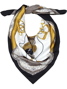 Tassel Silk Square Scarf, Multi - occasions: casual; predominant colour: multicoloured; type of pattern: standard; style: square; size: standard; material: silk; pattern: patterned/print