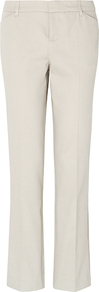 Zahara Trousers, Neutral - pattern: plain; waist: mid/regular rise; predominant colour: ivory; occasions: casual, work; length: ankle length; fibres: cotton - stretch; fit: slim leg; pattern type: fabric; texture group: woven light midweight; style: standard
