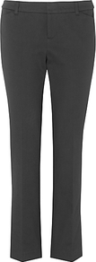 Zahara Trousers, Charcoal - length: standard; pattern: plain; waist: mid/regular rise; predominant colour: black; occasions: evening, work; fibres: cotton - stretch; fit: bootcut; pattern type: fabric; texture group: other - light to midweight; style: standard