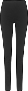 Amina Jeggings, Black - length: standard; pattern: plain; style: jeggings; waist: mid/regular rise; predominant colour: black; occasions: casual, evening; fibres: cotton - stretch; texture group: denim; pattern type: fabric