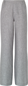 Christiana Trousers, Steel - length: standard; pattern: plain; waist: mid/regular rise; predominant colour: light grey; occasions: casual, work; fibres: linen - 100%; texture group: linen; fit: wide leg; pattern type: fabric; style: standard