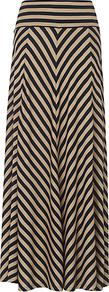 Jasmin Maxi Skirt, Navy - pattern: striped; fit: body skimming; waist detail: wide waistband/cummerbund; waist: mid/regular rise; predominant colour: camel; occasions: casual; length: floor length; style: maxi skirt; fibres: viscose/rayon - 100%; trends: striking stripes; pattern type: fabric; pattern size: standard; texture group: jersey - stretchy/drapey