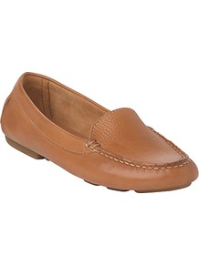 L.K.Bennett Gale Leather Loafer Driving Shoes - predominant colour: tan; occasions: casual; material: leather; heel height: flat; toe: round toe; style: loafers; finish: plain; pattern: plain