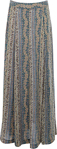 Scratchy Grunge Print Skirt, Multi - fit: loose/voluminous; waist: mid/regular rise; secondary colour: dark green; predominant colour: nude; occasions: casual; length: floor length; style: maxi skirt; fibres: viscose/rayon - 100%; texture group: silky - light; pattern type: fabric; pattern size: standard; pattern: patterned/print