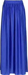 Long Skirt - pattern: plain; fit: loose/voluminous; waist detail: elasticated waist; waist: mid/regular rise; predominant colour: royal blue; occasions: casual, evening, work, holiday; length: floor length; style: maxi skirt; fibres: polyester/polyamide - 100%; hip detail: soft pleats at hip/draping at hip/flared at hip; texture group: silky - light; pattern type: fabric