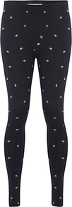 Jumping Bird Leggings, Zinc - length: standard; style: leggings; waist detail: elasticated waist; waist: mid/regular rise; predominant colour: black; occasions: casual; fibres: cotton - 100%; texture group: jersey - clingy; fit: skinny/tight leg; pattern type: fabric; pattern size: small &amp; light; pattern: patterned/print