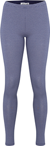 Jumping Stripe Leggings, Zinc - length: standard; pattern: horizontal stripes; style: leggings; waist detail: elasticated waist; waist: mid/regular rise; predominant colour: denim; secondary colour: black; occasions: casual; fibres: cotton - stretch; texture group: jersey - clingy; fit: skinny/tight leg; pattern type: fabric; pattern size: small &amp; busy