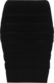 Bodycon Skirt, Black - length: mid thigh; pattern: plain; fit: tight; waist: high rise; hip detail: fitted at hip; predominant colour: black; occasions: evening; fibres: polyester/polyamide - mix; style: tube; texture group: jersey - clingy; pattern type: fabric