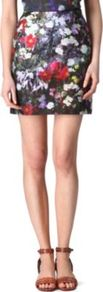 Floral Skirt - length: mid thigh; style: straight; fit: tailored/fitted; waist: high rise; occasions: casual, evening, occasion, holiday; fibres: cotton - 100%; predominant colour: multicoloured; texture group: cotton feel fabrics; trends: high impact florals; pattern type: fabric; pattern size: big & busy; pattern: florals