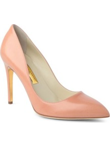 Malory Leather Courts - predominant colour: nude; occasions: evening, work, occasion; material: leather; heel height: high; heel: stiletto; toe: pointed toe; style: courts; finish: plain; pattern: plain