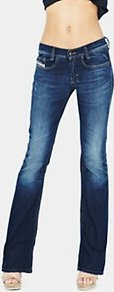 Louvboot Slim Bootcut Jeans Vintage Wash - style: bootcut; pattern: plain; pocket detail: traditional 5 pocket; length: extra long; waist: mid/regular rise; predominant colour: navy; occasions: casual, evening; fibres: cotton - stretch; jeans detail: whiskering, shading down centre of thigh, dark wash; texture group: denim; pattern type: fabric
