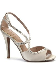 Silver Sequin Cut Out Party Sandal Heels - predominant colour: silver; occasions: evening, occasion; material: satin; heel height: high; embellishment: crystals; ankle detail: ankle strap; heel: stiletto; toe: open toe/peeptoe; style: standard; finish: plain; pattern: plain