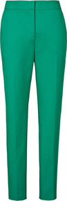 Paris Zac Straight Leg Trousers - length: standard; pattern: plain; pocket detail: small back pockets, pockets at the sides; waist: mid/regular rise; predominant colour: mint green; occasions: casual, evening, work; fibres: cotton - mix; fit: straight leg; pattern type: fabric; pattern size: standard; texture group: other - light to midweight; style: standard
