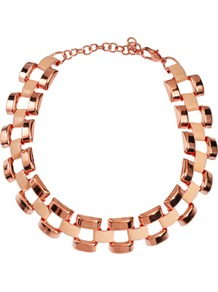 Limited Edition Link Choker Necklace - predominant colour: gold; occasions: casual, evening, occasion; style: choker/collar; length: choker; size: standard; material: chain/metal; finish: metallic
