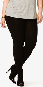 Basic Leggings - length: standard; pattern: plain; style: leggings; waist detail: elasticated waist; waist: mid/regular rise; predominant colour: black; occasions: casual, evening; fibres: cotton - stretch; texture group: jersey - clingy; fit: skinny/tight leg; pattern type: fabric